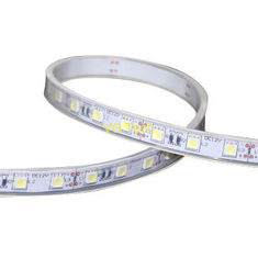 China flexible LED strip, soft silicone gel on the back 5050 LED white solder mask factory